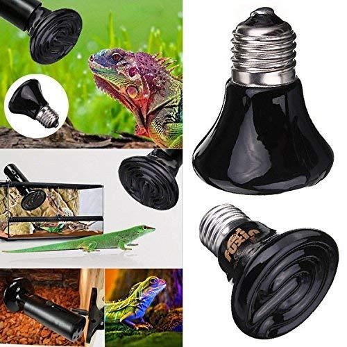 2 STÜCKE 220 V Mini Schwarz Keramik Wärme Infrarot Emitter Lampe für Reptilien Haustier Brooder 25 Watt / 50 Watt / 75 Watt / 100 Watt-50 Watt