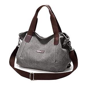 COOFIT Mujer Bolsos de Moda Bolso bandolera para Mujer Bolso Crossbody para Mujeres Bolso Lona Bolso Tote Bolso Shopper