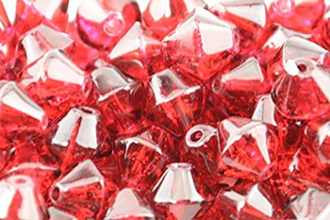 100pcs 4mm Red Crackle Glass BICONE Beads