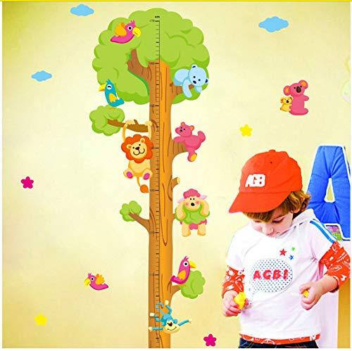 Wandaufkleber Kinder Kind Messlatte Maßband Wandaufkleber Natürliche Tier Baum Vinyltapete Haus Dekorative Abziehbilder Abnehmbar