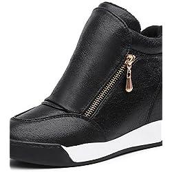 ZQ gyht Scarpe Donna - Sneakers alla moda / Mocassini - Tempo libero / Ufficio e lavoro / Sportivo - Zeppe / Plateau / Creepers - Zeppa -Finta , silver-us8.5 / eu39 / uk6.5 / cn40 , silver-us8.5 / eu39 / uk6.5 / cn40
