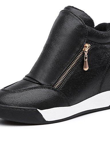 ZQ gyht Scarpe Donna - Sneakers alla moda / Mocassini - Tempo libero / Ufficio e lavoro / Sportivo - Zeppe / Plateau / Creepers - Zeppa -Finta , silver-us8.5 / eu39 / uk6.5 / cn40 , silver-us8.5 / eu3 silver-us7.5 / eu38 / uk5.5 / cn38