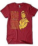 1303-Camiseta Tyrion Juego de tronos,(Granate) (XL)