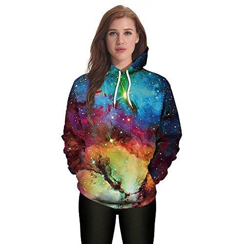 (TUDUZ Halloween Kostüm Unisex Kapuzenpullover Pullover Hoodie Sweatshirt Pullover Tops Kapuzenpulli fur Herren Damen)
