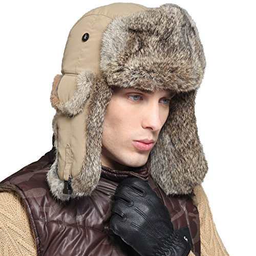 June's young Ski Cap Faux Fur Russian Ushanka Hat Trapper Hat Removable