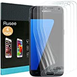 [4 Pack] Galaxy S7 Screen Protector, Rusee Ultra HD Clear Full Coverage Anti-Scratch Bubble Free Anti-Fingerprint Protective Film Cover for Samsung Galaxy S7