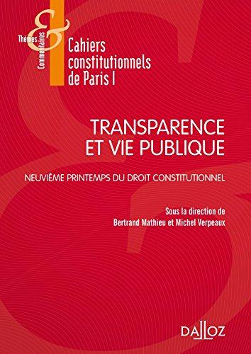 Transparence et Vie publique - 1re édition
