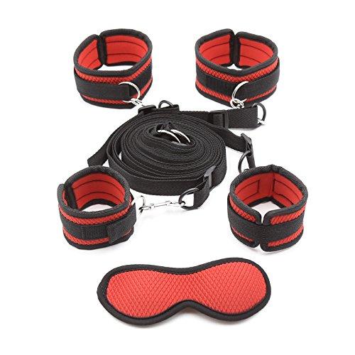 Intimate Melody Bandages au Lit Rouge Portable avec 4 Sangles Réglable, en Nylon et Velours