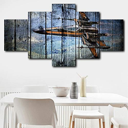 zfkdsd Wandbild Leinwand Malerei Wandkunst HD Print 5 Stück Star Movie Poster Moderne Wohnkultur Raum Hintergrund Modulare Bild Arbeit (Rahmen)-M