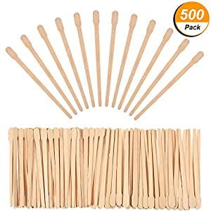 500 packung wachs spatel holz handwerk sticks kleine f r haarentfernung augenbrauen wachs. Black Bedroom Furniture Sets. Home Design Ideas