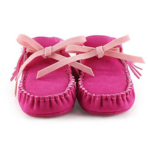 Winter Babyschuhe Jamicy® Baby-weiche Schuhe Soft-Krippe Schuhe Kleinkind Stiefel Winter warme Schuhe Boots (12~18 Monat, Watermelon Red) Hot Pink