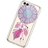 Coque Compatible avec Huawei Honor V10/View 10 Étui KunyFond Créatif Mandala Fleur...
