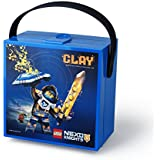 """Lego RC40511734 Lunchbox """"Nexo Knights"""" mit Griff in Plastik, Blau, 16.5 x 16.5 x 9.7 cm"""