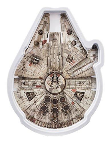 Home Star Wars Piatto Decoro Millennium, Melamina, Multicolore, 25x20x2 cm