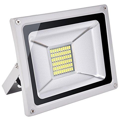 CSHITO Foco LED 30W,2100 lm, Iluminación interior exterior,Impermeable IP65,Foco proyector LED ,Blanco...
