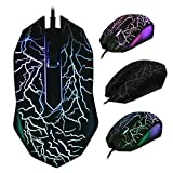 LipiWorld® LED Adjustable USB Wired Optical Gaming Mice Mouse Colorful Backlight For PC Laptop Computer-1200 DPI Mouse