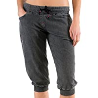 Chillaz International Mujer hilo 3/4Pant Pantalón 3/4, primavera/verano, mujer, color gris, tamaño 34