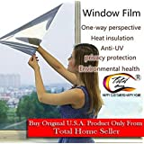 TOTAL HOME One Way Mirror Privacy Reflection 15% Tint Window Film Solar Energy Save 50CM x 200CM (Size: 1PC)