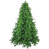 Künstlicher Weihnachtsbaum 240cm DeLuxe in Premium Spritzguss Qualität, grüne Nordmanntanne, Tannenbaum mit PE Kunststoff Nadeln, Nordmannstanne Christbaum