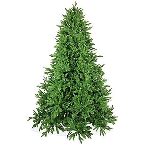 Künstlicher Weihnachtsbaum 240cm DeLuxe in Premium Spritzguss Qualität, grüne Nordmanntanne, Tannenbaum mit PE Kunststoff Nadeln, Nordmannstanne