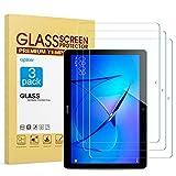 apiker [3 Packs Protector Pantalla Tablet Compatible con Huawei Mediapad T3 10 9.6 Pulgadas, Cristal Templado Tablet Premium [9H Dureza] [Alta Definición]