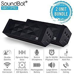 SoundBot SB571 Pro Bluetooth Speakers (Pack of 2)