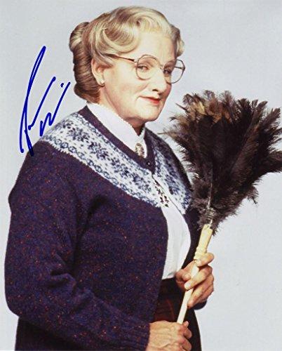 Robin Williams - Mrs Doubtfire Signiert Autogramme 25cm x 20cm Foto -