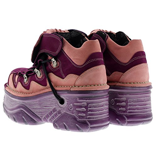 New Rock Womens M1075 C21 Turbo Leather Shoes Lila