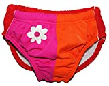 Unbekannt Badewindelhose Blume - UV Schutz - Badehose mit Windel - Größe 3 - 6 Monate - Gr. 62 / 68 - für Kinder - Schwimmwindeln - Mädchen Jungen - Badewindel Schwimmw..