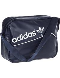 Adidas AB2781 - Bolso de deporte, color Azul/Blanco, 12 x 38 x 28 cm, 13 Litros