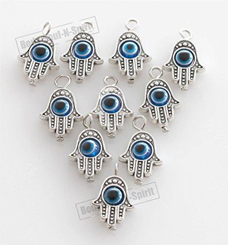 diy-lot-of-10-hamsa-hand-evil-eye-lucky-charm-pendant-kabbalah-jewelry-by-body-soul-n-spirit-bracele