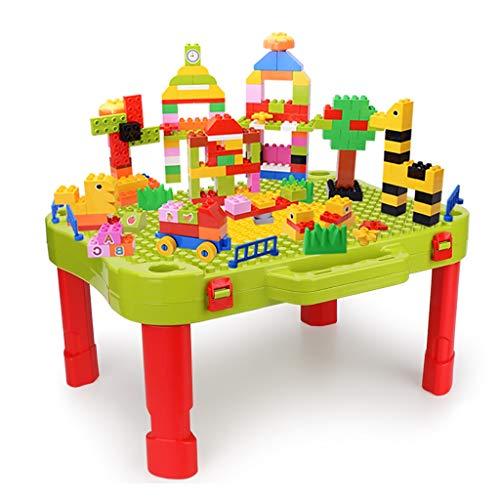Tische Kinder Bausteine   Tisch Montage Spielzeug Puzzle Spieltisch Klapp Spielzeug Kinder Geschenke (Color : Green, Size : 46 * 35 * 23cm) (Portable Puzzle Board)