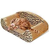 Owikar tiragraffi giocattolo per gatti, cat scratch Board con divano design soddisfare naturale del gatto che graffia Istinti Toy Pet Grooming forniture di cartone ondulato e risparmia il vostro arredamento per il tuo gatto