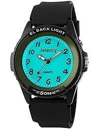 Kinder Armbanduhr Jungen Analog Wasserdicht Uhren für Jungs und Mädchen,Grün Kinderuhren