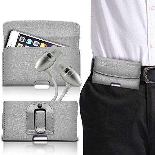 Fone-Case (Grey) HTC Bolt / Evo 10 Horizontale PU-Ledergürtel -Telefon-Halter Holster Fall-Abdeckung (Telefon-abdeckungen Für Evo Htc)