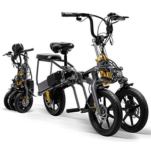 WARM ROOM Faltbares elektrisches Minidreirad 2 Batterien 48V 350W 14 Zoll 80KM Dreirad-Spitzenelektrisches Dreirad 1 Sekunde, das leicht faltet