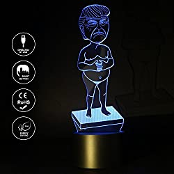 3 JOKERS Trump 3D Lamp Night Light USB Power 7 Color Change Touch Switch Amazing Table Desk Lamp Kids Gift Home Decoration