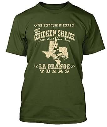 ZZ Top La Grange Chicken Shack T-shirt, Mens, Medium, Olive Green