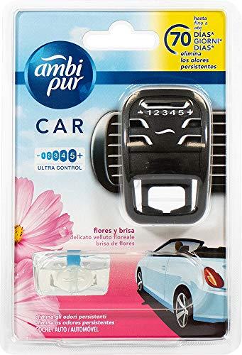 Ambi Pur - Deodorante per Auto, Flores y Brisa, Fiori Delicati, 70 Giorni - 7 m