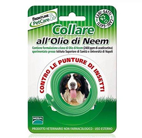 Frontline PetCare Collare all'Olio di Neem - Antiparassitario contro le punture di insetti, lenitivo naturale, per cani e gatti - Pet Farmacia Fiala