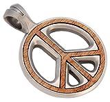 Bico Herren Peace Preacher Anhänger (EW55) - Krieg ist nicht meine Natur - Silber mit Rosenholz aus Neu Guinea