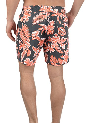 BLEND Florance Herren Swim-Shorts kurze Hose Badehose mit Blumenprint India Ink (70151)