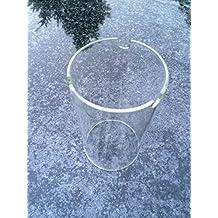 Glaszylinder 17cm x 9cm Zylinder für Granitlaterne Ersatzglas Ersatzzylinder Glas