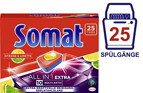 Somat Tabs 10 All in 1 Extra Zitrone & Limette, 8er Pack (8 x 25 Tabs)