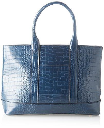 Swankyswans Damen Audrey Faux Leather Tote Bag Wallet Blau (Navy), 12x30x34 centimeters -