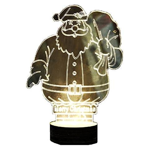 3D Glow LED Lampe–koiiko® Stereo Vision 3D Schreibtisch Lampe 3D Visual Fantasy Romantische Storm Atmosphäre Lampe mit USB-Ladegerät für Zuhause Dekorative/Weihnachten/Geburtstag Geschenke