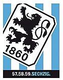 TSV 1860 München Fleecedecke Streifen