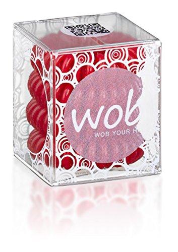 WOB TRACELESS PELO ANILLOS lazo del pelo espiral, rojo, Paquete 1er (1...