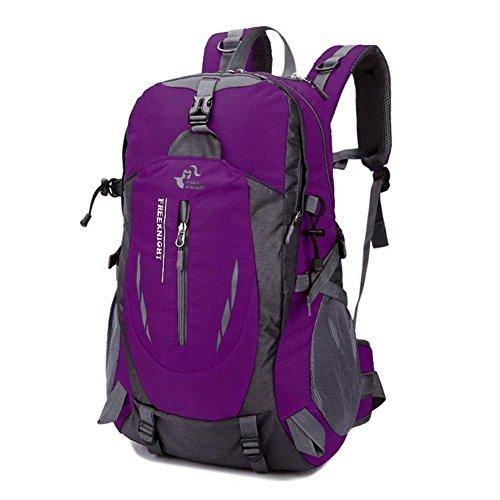 Imagen de huntvp  de alpinismo  deportiva gran  impermeable 40l para las actividades aire libre, senderismo, caza ,viajar, color rosa roja