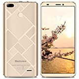 Handy Ohne Vertrag, Blackview S6 Dual SIM Smartphone 16GB ROM + 2GB RAM, 4180mAh mit 2MP + 8MP + 0.3MP Dual Rear Kameras 4G Smartphone, 18:9 Vollbild mit 5.7 Zoll Touch Display,Gold